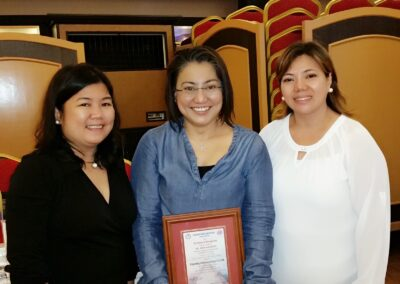 Receiving of the Certificate of Appreciation